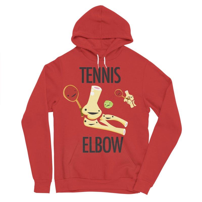 Tennis Elbow Men's Sponge Fleece Pullover Hoody by I Heart Guts