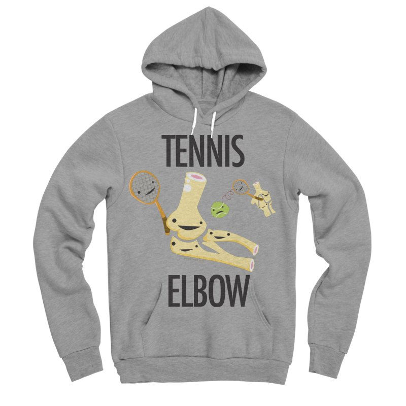 Tennis Elbow Men's Sponge Fleece Pullover Hoody by I Heart Guts