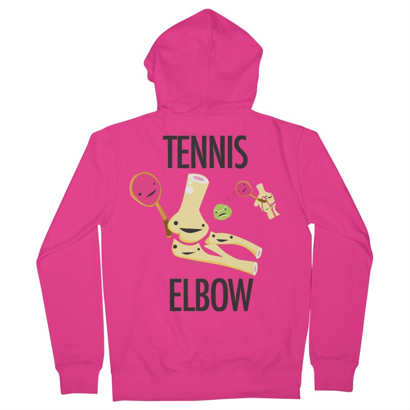 Tennis Elbow Men's French Terry Zip-Up Hoody by I Heart Guts