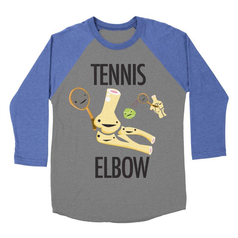 Tennis Elbow Men's Baseball Triblend Longsleeve T-Shirt by I Heart Guts