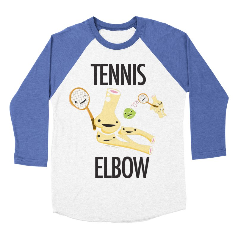 Tennis Elbow Men's Baseball Triblend Longsleeve T-Shirt by I Heart Guts