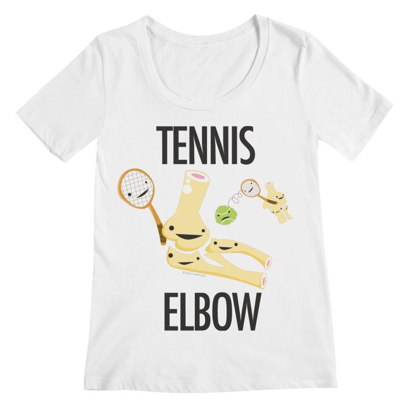 Tennis Elbow Women's Regular Scoop Neck by I Heart Guts