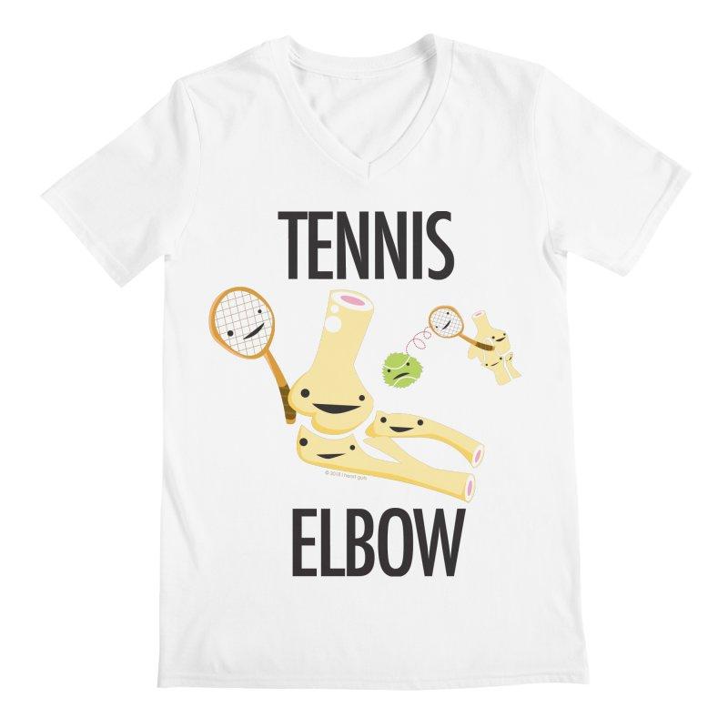 Tennis Elbow Men's Regular V-Neck by I Heart Guts