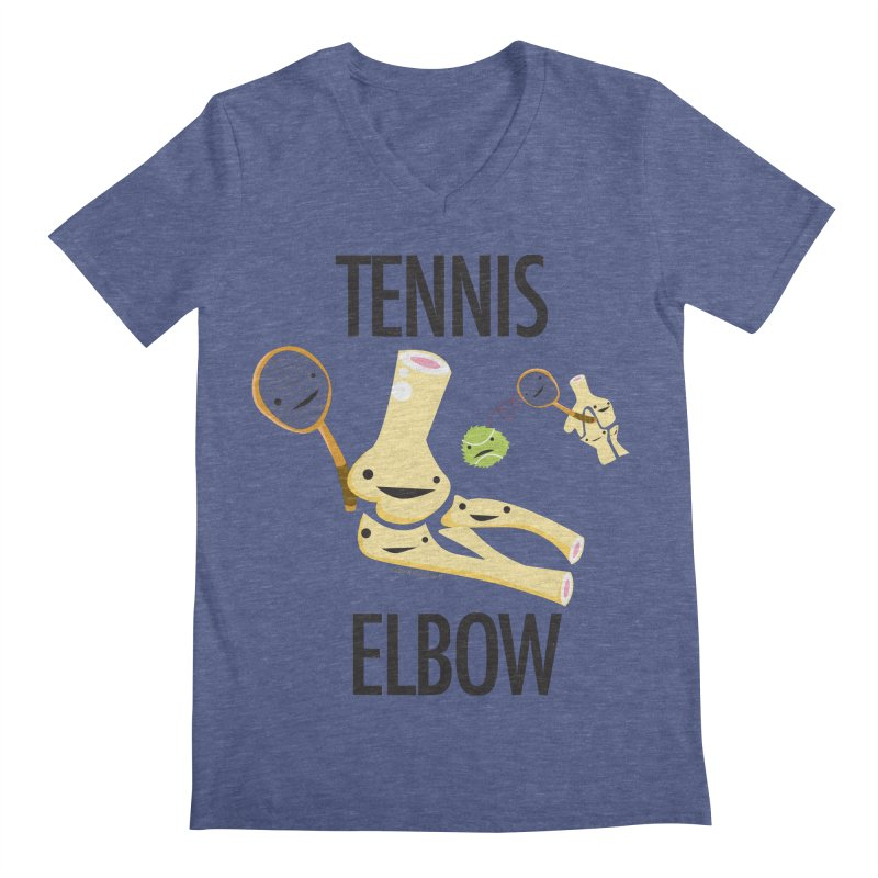 Tennis Elbow Men's Regular V-Neck by I Heart Guts