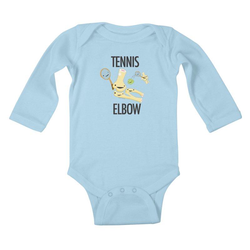 Tennis Elbow Kids Baby Longsleeve Bodysuit by I Heart Guts