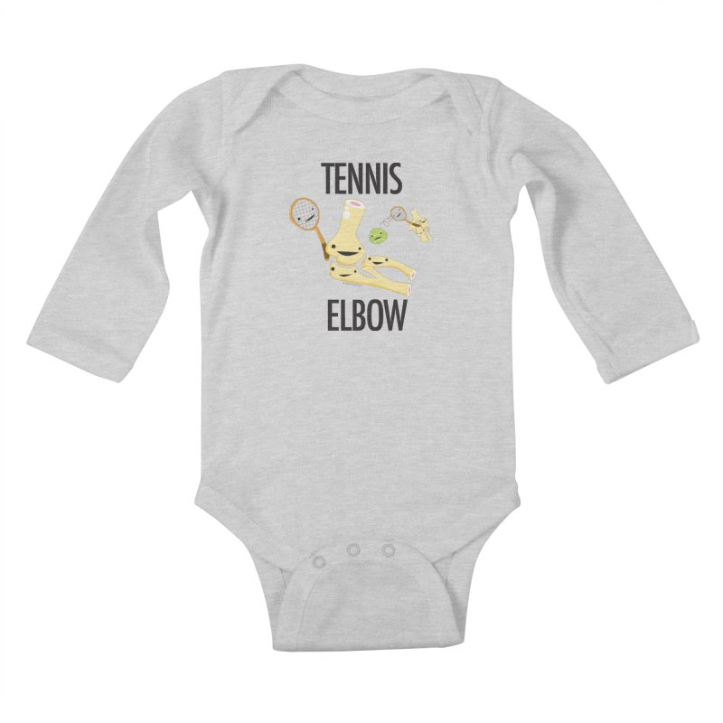 Tennis Elbow Kids Baby Longsleeve Bodysuit by I Heart Guts
