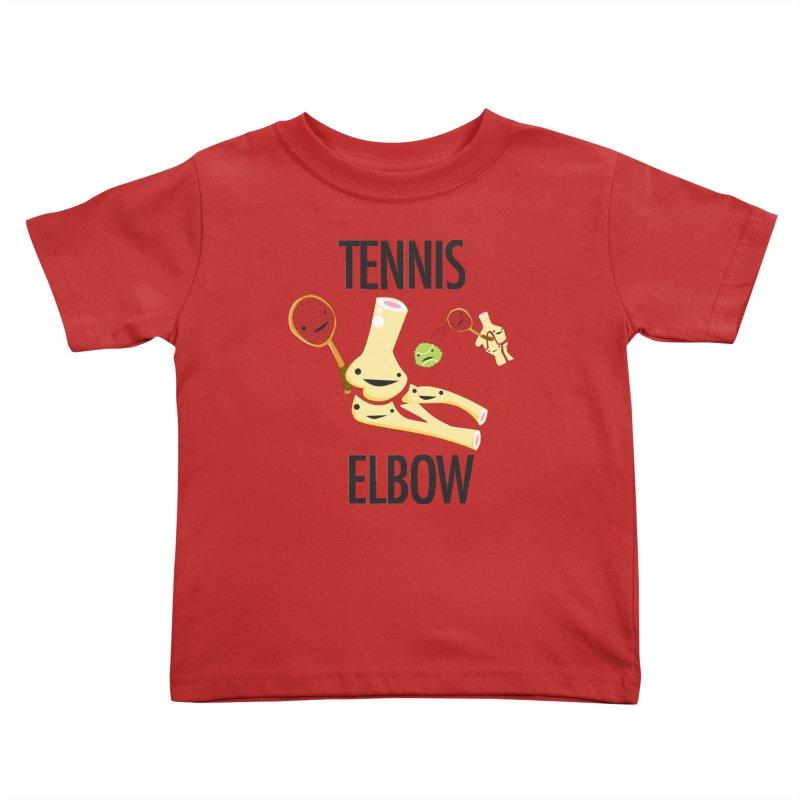 Tennis Elbow Kids Toddler T-Shirt by I Heart Guts