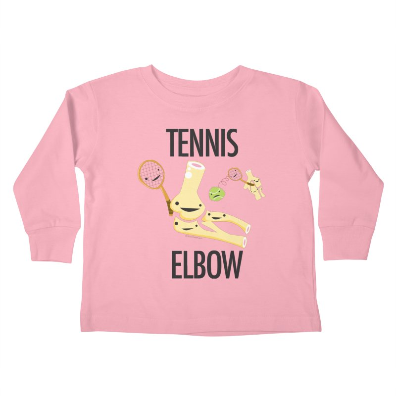 Tennis Elbow Kids Toddler Longsleeve T-Shirt by I Heart Guts