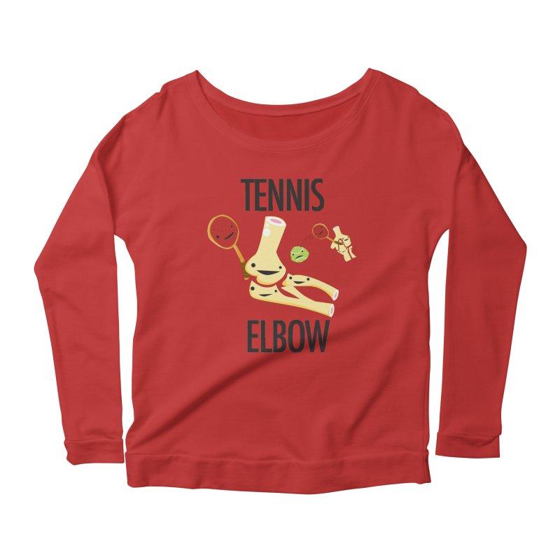 Tennis Elbow Women's Scoop Neck Longsleeve T-Shirt by I Heart Guts