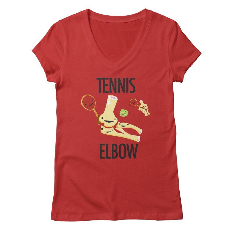 Tennis Elbow Women's Regular V-Neck by I Heart Guts