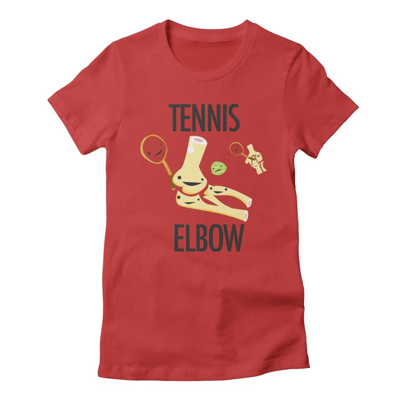 Tennis Elbow Women's Fitted T-Shirt by I Heart Guts