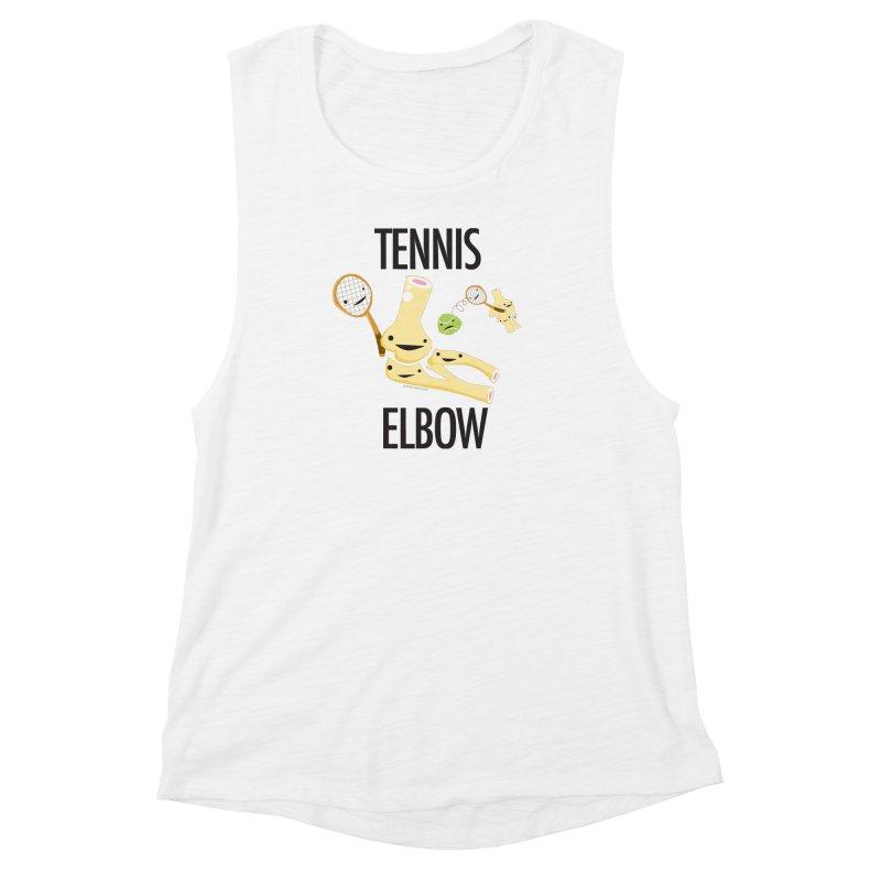 Tennis Elbow Women's Muscle Tank by I Heart Guts