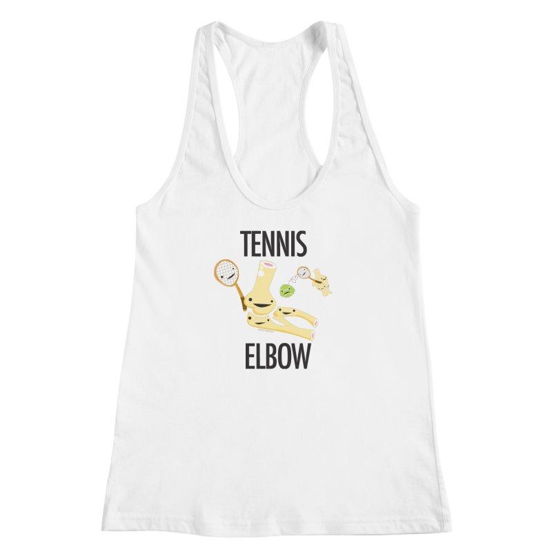 Tennis Elbow Women's Racerback Tank by I Heart Guts