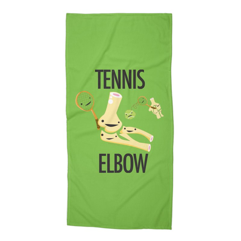Tennis Elbow Accessories Beach Towel by I Heart Guts