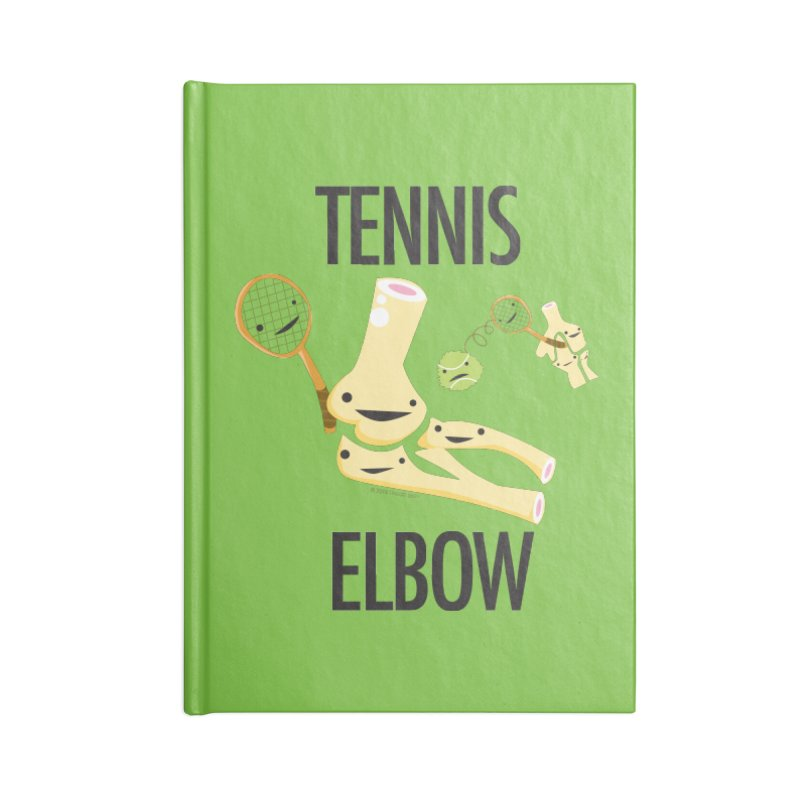 Tennis Elbow Accessories Notebook by I Heart Guts