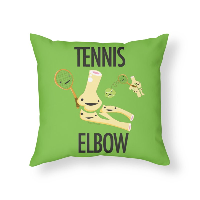 Tennis Elbow Home Throw Pillow by I Heart Guts