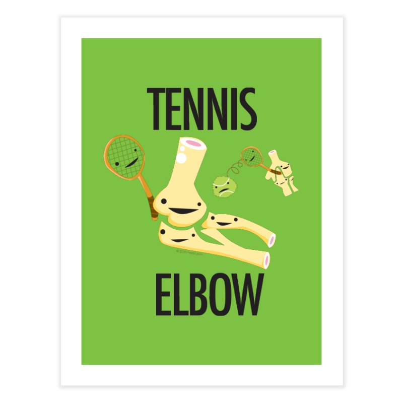 Tennis Elbow Home Fine Art Print by I Heart Guts