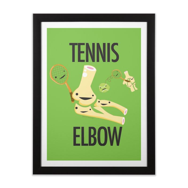 Tennis Elbow Home Framed Fine Art Print by I Heart Guts