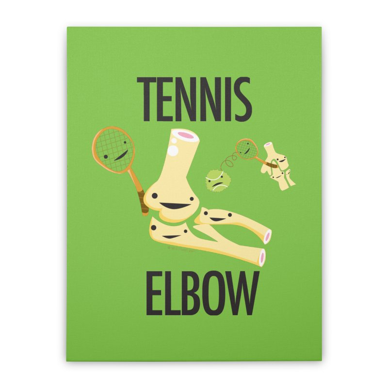 Tennis Elbow Home Stretched Canvas by I Heart Guts