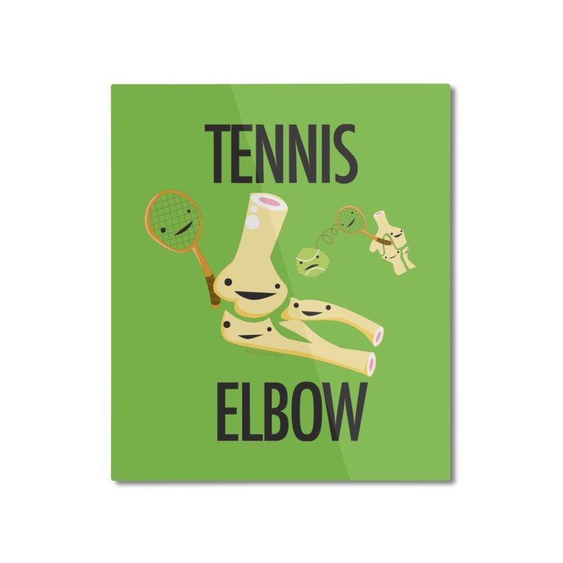 Tennis Elbow Home Mounted Aluminum Print by I Heart Guts