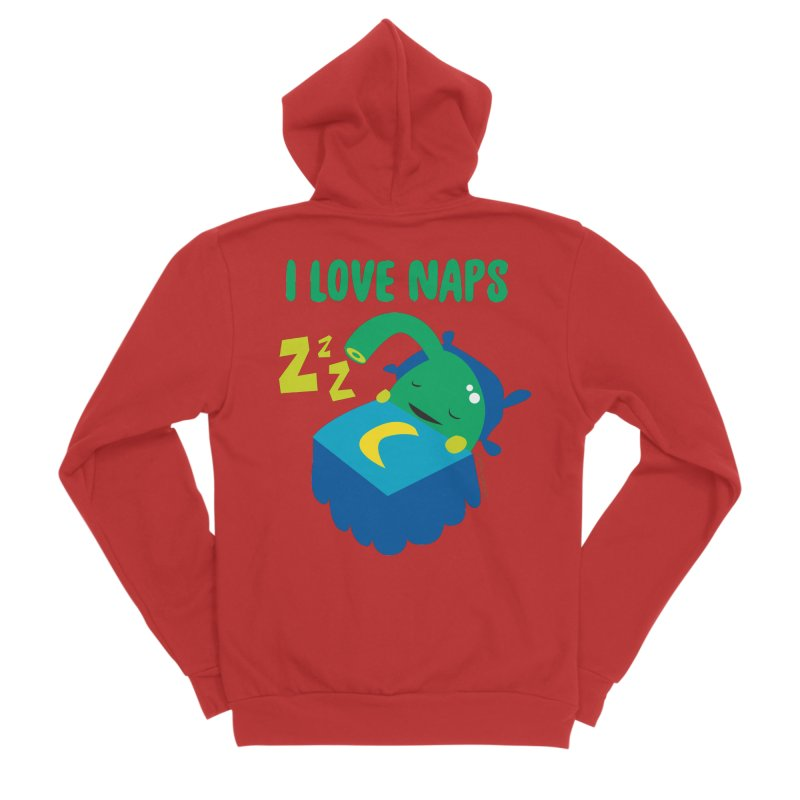 Pineal Gland - I Love Naps Men's Zip-Up Hoody by I Heart Guts