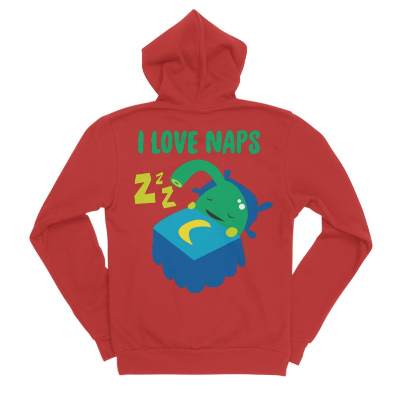 Pineal Gland - I Love Naps Men's Sponge Fleece Zip-Up Hoody by I Heart Guts