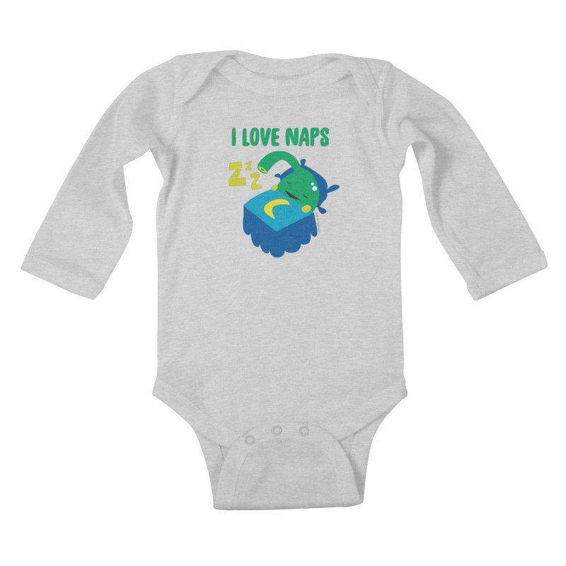 Pineal Gland - I Love Naps Kids Baby Longsleeve Bodysuit by I Heart Guts