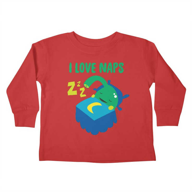 Pineal Gland - I Love Naps Kids Toddler Longsleeve T-Shirt by I Heart Guts