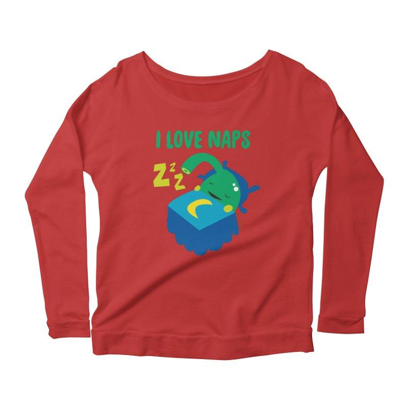 Pineal Gland - I Love Naps Women's Scoop Neck Longsleeve T-Shirt by I Heart Guts
