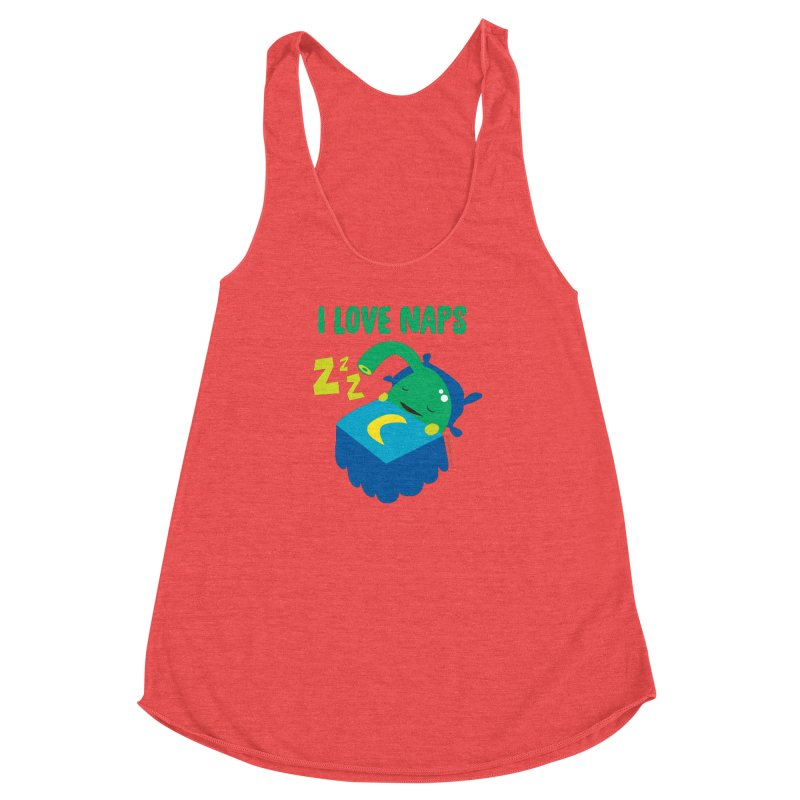 Pineal Gland - I Love Naps Women's Racerback Triblend Tank by I Heart Guts