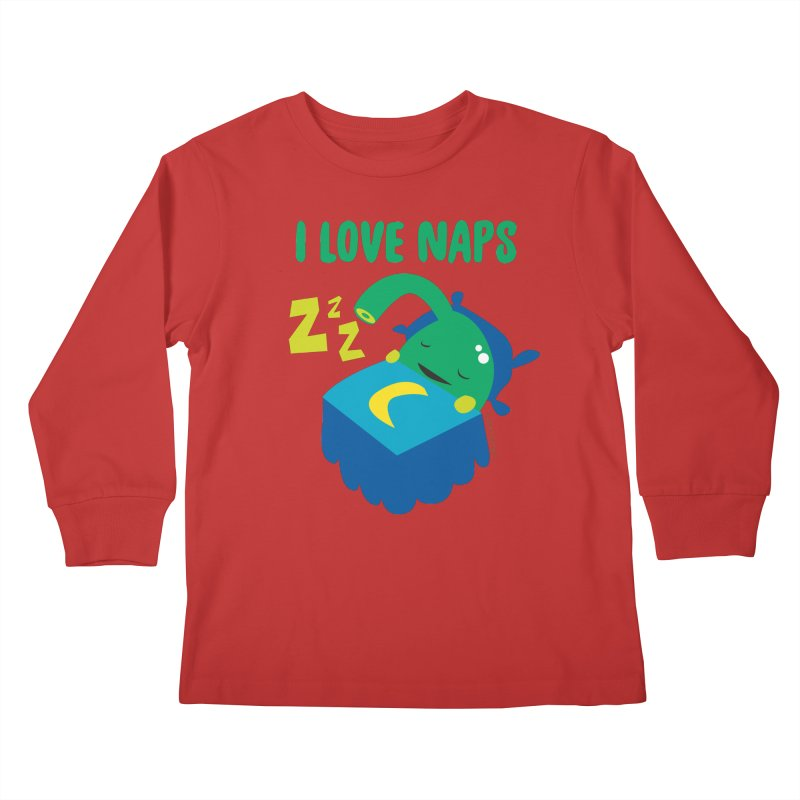 Pineal Gland - I Love Naps Kids Longsleeve T-Shirt by I Heart Guts