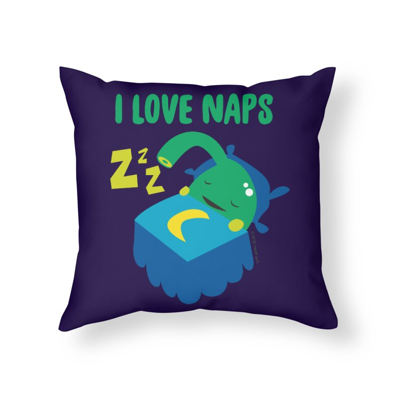 Pineal Gland - I Love Naps Home Throw Pillow by I Heart Guts