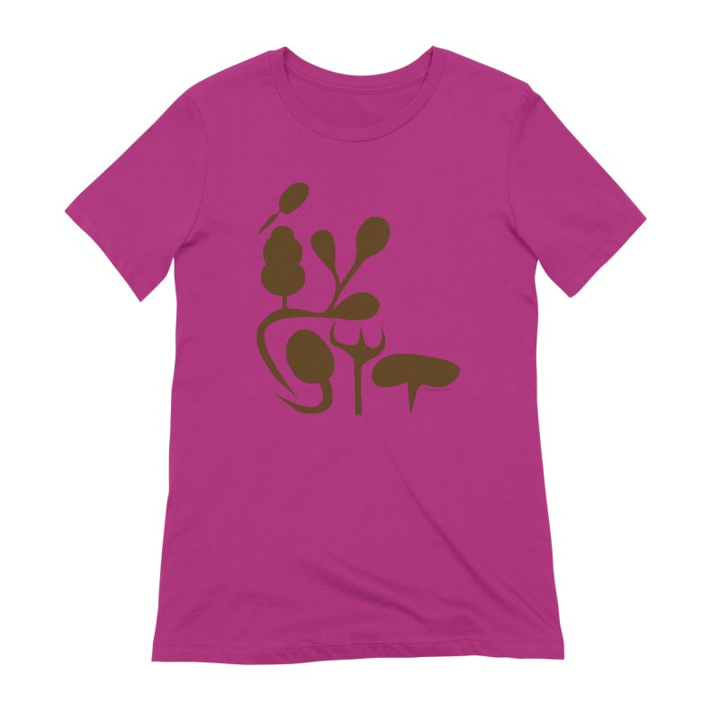 Sense of Touch in Women's Extra Soft T-Shirt Berry by I Heart Guts