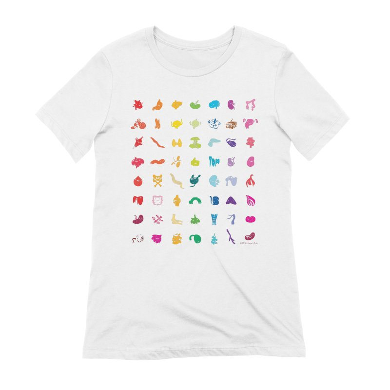 Guts Grid Women's Extra Soft T-Shirt by I Heart Guts