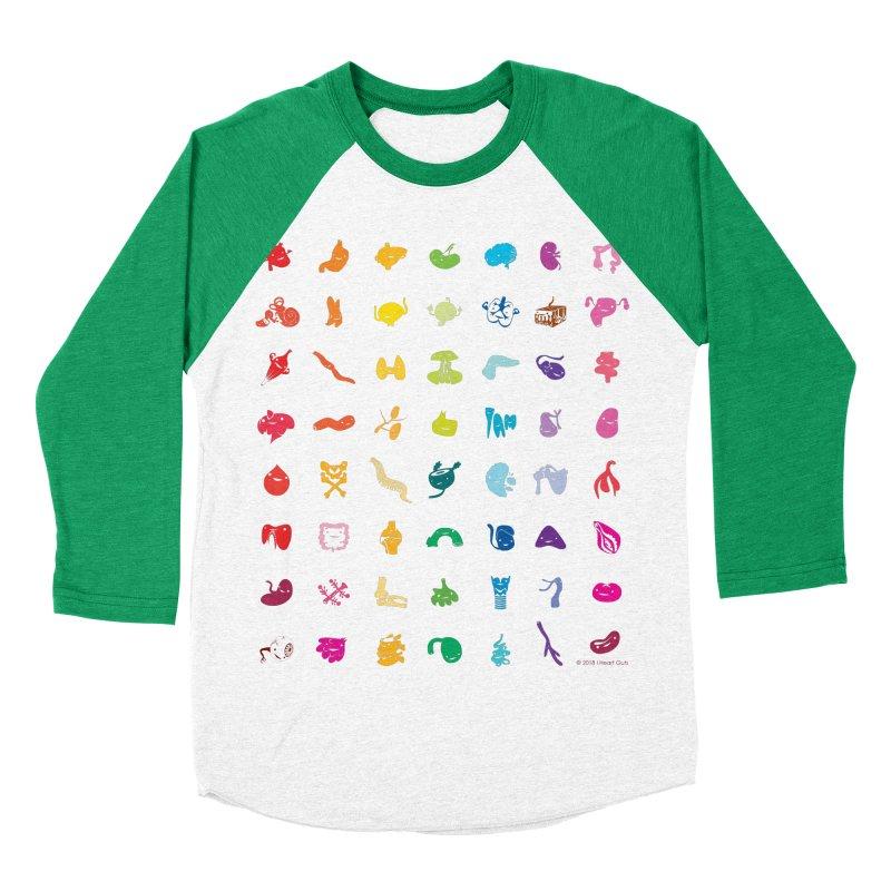 Guts Grid Women's Baseball Triblend Longsleeve T-Shirt by I Heart Guts