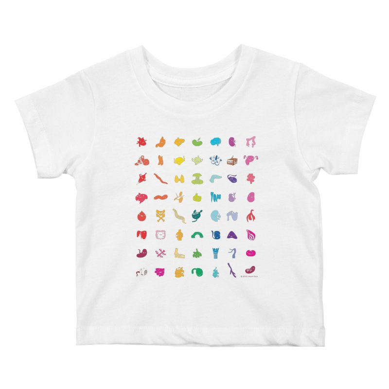 Guts Grid Kids Baby T-Shirt by I Heart Guts