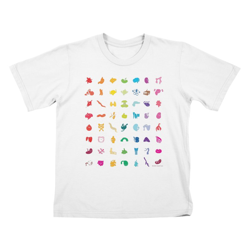 Guts Grid Kids T-Shirt by I Heart Guts
