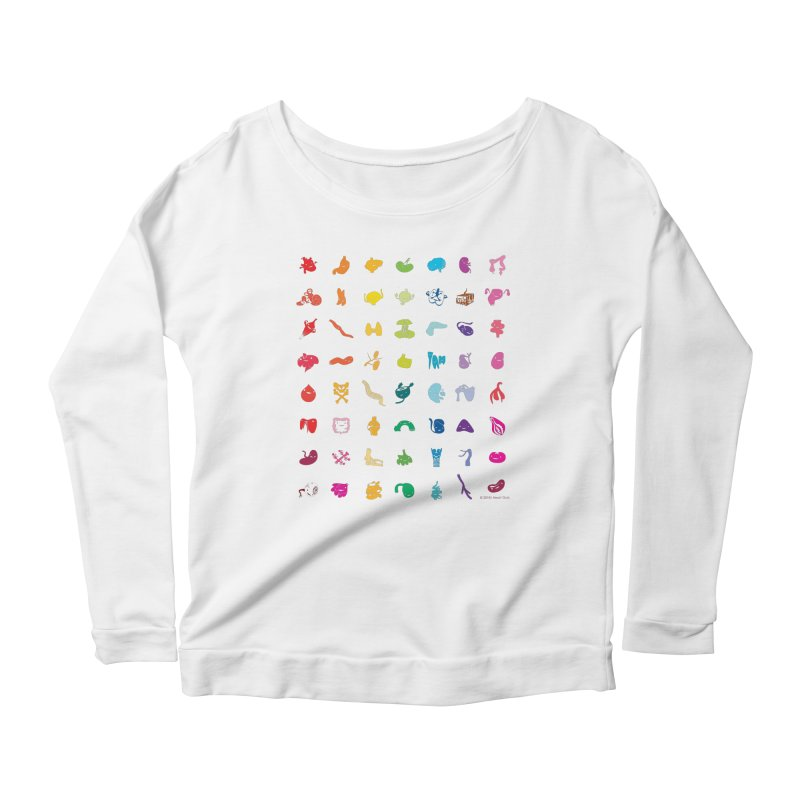 Guts Grid Women's Scoop Neck Longsleeve T-Shirt by I Heart Guts