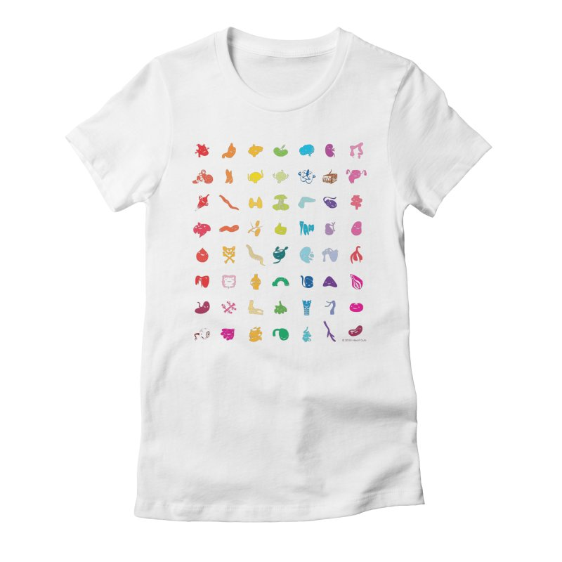 Guts Grid Women's Fitted T-Shirt by I Heart Guts