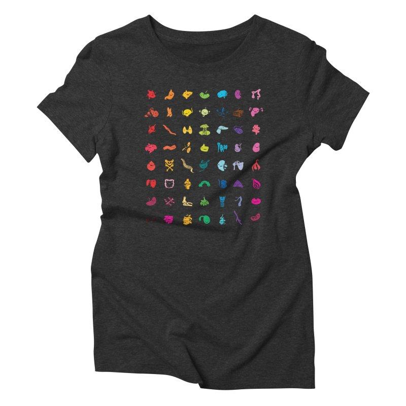 Guts Grid Women's Triblend T-Shirt by I Heart Guts