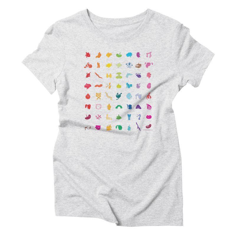 Guts Grid Women's Triblend T-Shirt by I Heart Guts