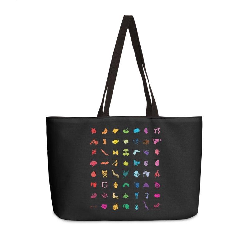 Guts Grid Accessories Weekender Bag Bag by I Heart Guts