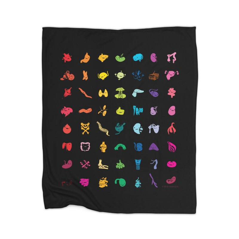 Guts Grid Home Blanket by I Heart Guts