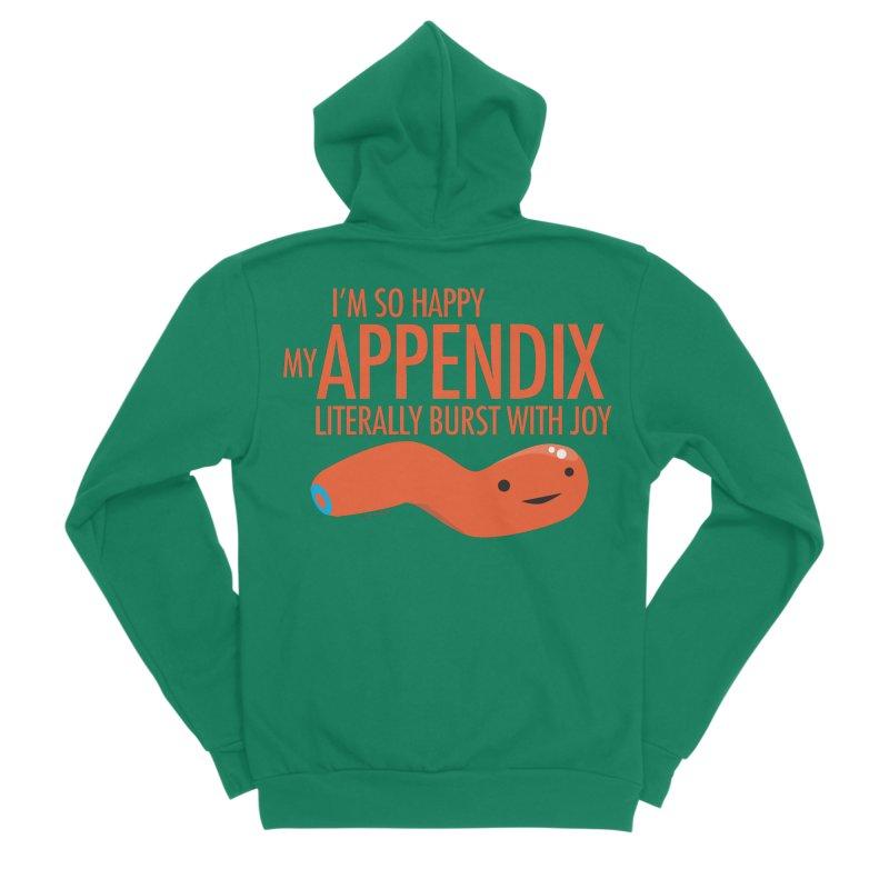 Appendix Literally Burst With Joy Women's Sponge Fleece Zip-Up Hoody by I Heart Guts
