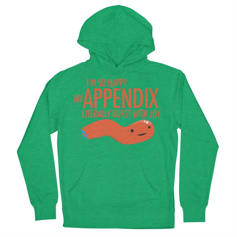 Appendix Literally Burst With Joy Men's French Terry Pullover Hoody by I Heart Guts