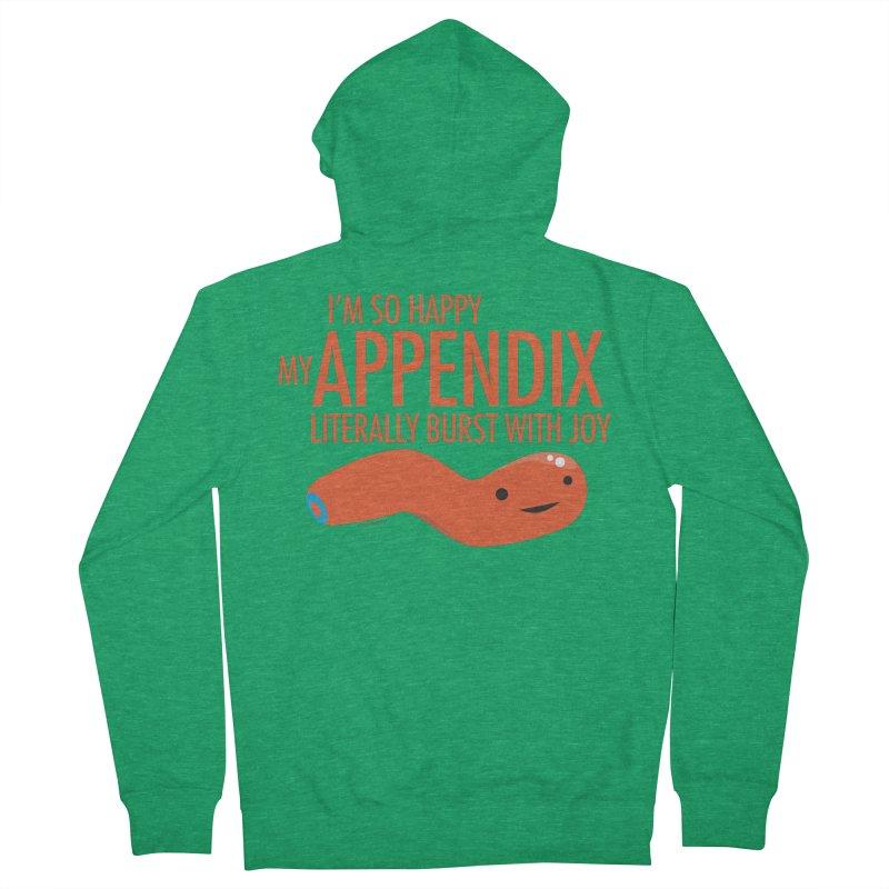Appendix Literally Burst With Joy Men's Zip-Up Hoody by I Heart Guts