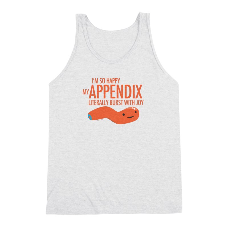 Appendix Literally Burst With Joy Men's Triblend Tank by I Heart Guts