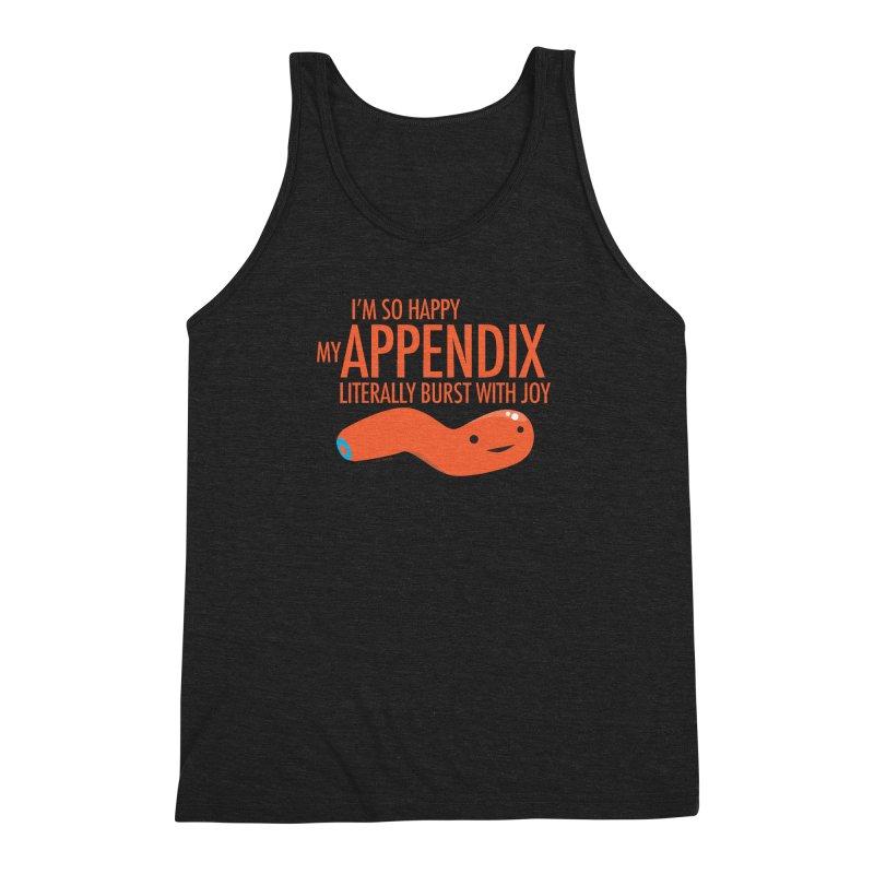 Appendix Literally Burst With Joy Men's Triblend Tank by I Heart Guts