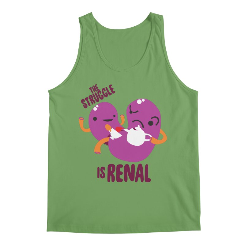 Kidney - The Struggle is Renal Men's Tank by I Heart Guts