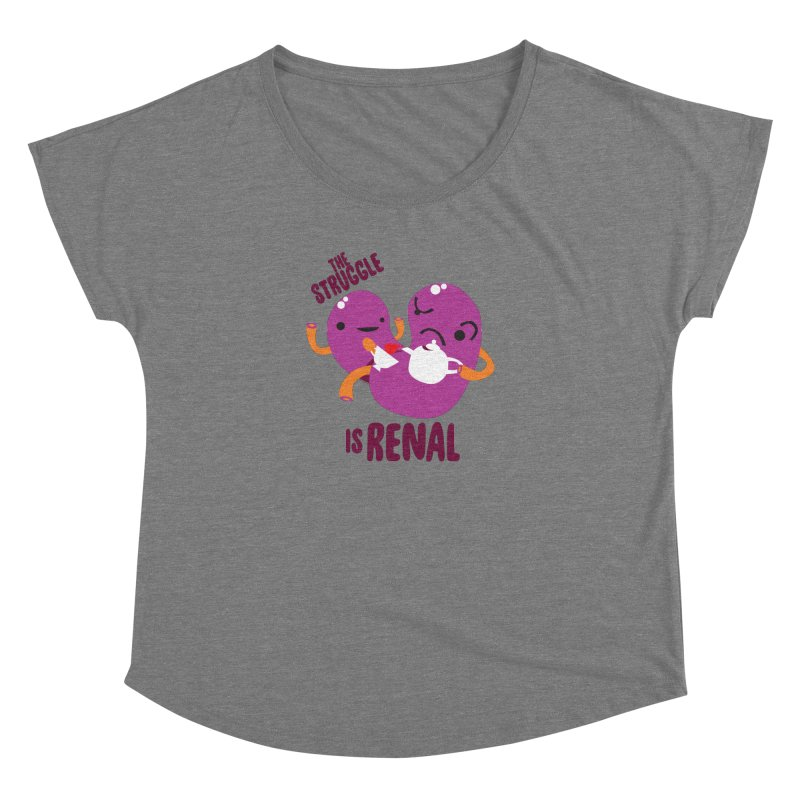 Kidney - The Struggle is Renal Women's Scoop Neck by I Heart Guts